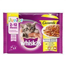 Whiskas Casserole Junior Poultry izbor hran v želatini 4 x 85 g