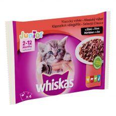 Whiskas Junior Classic izbor hran v soku 4 x 100 g