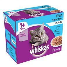 Whiskas Fish selection izbor hran v želatini 12 x 100 g