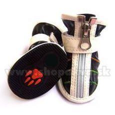 Pasji čevlji z zadrgo, črni (4 kosi) – velikost 3