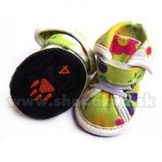 Pasji čevlji iz blaga - zeleni (4 kom) - velikost 4