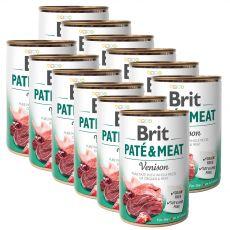 Konzerva Brit Paté & Meat Venison 12 x 400 g
