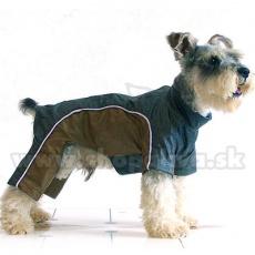 Enodelna obleka za psa – zlato-siva, XS