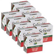 Schesir dog piščanec in govedina v želatini 10 x 150 g
