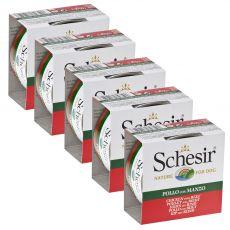 Schesir dog piščanec in govedina v želatini 5 x 150 g