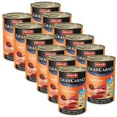 Konzerva pasje hrane GranCarno Original Junior z govedino in piščancem - 12 x 400g