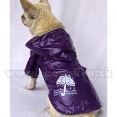 Dežni plašč za pse - viola, motiv dežnika, XS