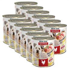 Novo BEWI DOG konzerva – piščanec, 12 x 800 g
