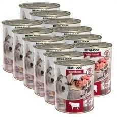 Konzerva New BEWI DOG – goveje meso, 12 x 800 g