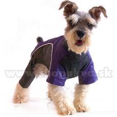 Enodelna obleka za psa – violo-črna, XS