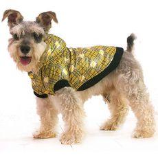 Jakna za psa – karirasta, rumena, XS
