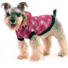 Jakna za psa – karirasta, roza, XS