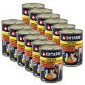 Konzerva ONTARIO s piščancem, korenjem in oljem za pse  - 12 x 400 g