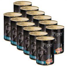 Konzerva Piper Adult govedina, korenje in rjavi riž 12 x 400 g