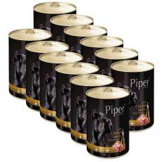 Konzerva Piper Adult piščančja srca in rjavi riž 12 x 400 g