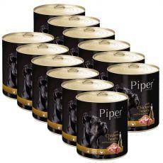 Konzerva Piper Adult piščančja srca in rjavi riž 12 x 800 g