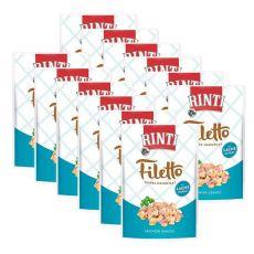 Vrečka hrane RINTI Filetto piščanec + losos, 12 x 100 g