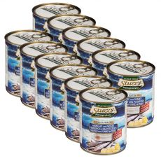 Konzerva pasje hrane STUZZY Dog Monoprotein – sled in krompir, 12 x 800 g