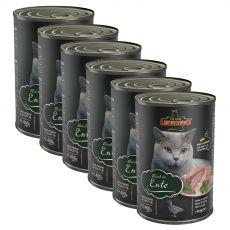 Konzerva mačje hrane Leonardo, raca 6 x 400 g