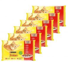 Vrečke Friskies Cat piščanec, govedina, jagnjetina in raca v omaki 6 x (4 x 85 g)