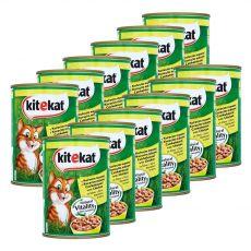 Konzervirana hrana Kitekat piščanec 12 x 400 g
