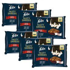 FELIX Tasty Shreds vrečke z okusno hrano v soku 6 x (4 x 80 g)