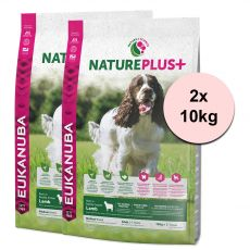 Eukanuba Nature Plus+ Adult Medium Rich in freshly frozen Lamb 2 x 10 kg