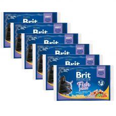 Vrečke BRIT Premium Cat Fish Plate 6 x (4 x 100 g)