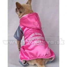 Športna enodelna obleka za pse – roza in siva, XL