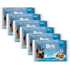 Vrečke BRIT Premium Cat Delicate Fillets in Gravy Dinner Plate 6 x (4 x 85 g)