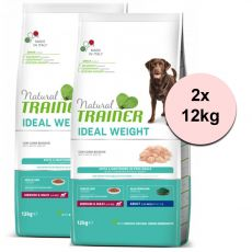 Trainer Natural Ideal Weight White Meats Adult Medium & Maxi 2 x 12 kg