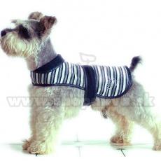 Telovnik za psa – črn in bel, S