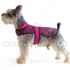 Telovnik za psa – roza in črn, XL