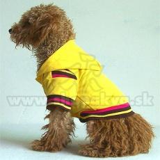 Jopica s kapuco za pse – rumena, M