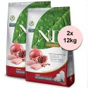 Farmina N&D Prime dog PUPPY MEDIUM & MAXI Chicken & Pomegranate 2 x 12 kg