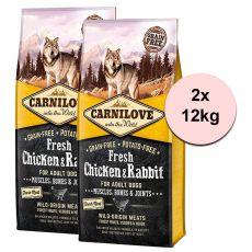 Brit CARNILOVE Fresh Chicken & Rabbit 2 x 12 kg