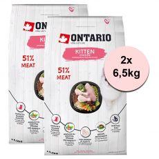 Ontario Kitten Chicken 2 x 6,5 kg
