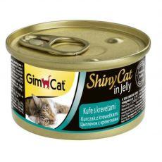 GimCat ShinyCat piščanec + rakci 70 g