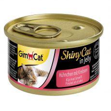 GimCat ShinyCat piščanec + rak 70 g