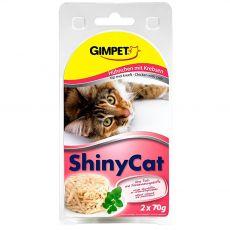 GimCat ShinyCat piščanec + rak 2 x 70 g