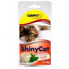 GimCat ShinyCat piščanec 2 x 70 g