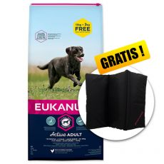 EUKANUBA ADULT Large Breed Chicken 15kg + 3kg GRATIS + DARILO