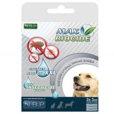 MAX BIOCIDE Antiparazitske kapljice za pse 3 x 3 ml