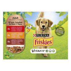 FRISKIES VITAFIT izbor hran z govedino, piščancem in jagnjetino v soku 12 x 100 g