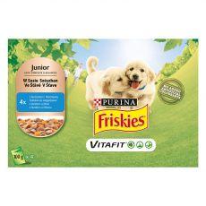 FRISKIES Junior VitaFit vrečka za pasje mladiče s piščancem in korenjem v soku 4 x 100 g