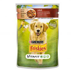 FRISKIES Adult VitaFit vrečka z jagnjetino in korenjem v soku 100 g