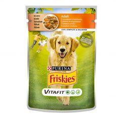 FRISKIES Adult VitaFit vrečka s piščancem in korenjem v soku 100 g