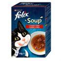 FELIX Soup Delicious izbor hran z govedino, piščancem in jagnjetino 6 x 48 g