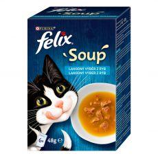 FELIX Soup Delicious izbor hran s trsko, tuno in morsko ploščo 6 x 48 g