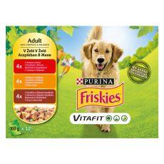FRISKIES VITAFIT izbor hran s piščancem, govedino in jagnjetino v želatini 12 x 100 g